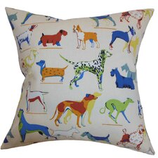 Wonan Dogs Print Cotton Pillow