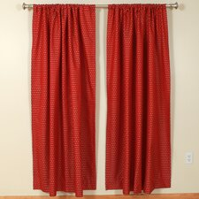 Hot Pepper Rod Pocket Curtain Single Panel
