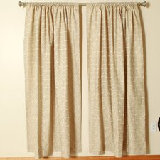 Linen Rod Pocket Curtain Single Panel