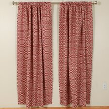 Hot Pepper 1 Rod Pocket Curtain Single Panel