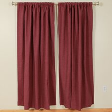 Solid Rod Pocket Curtain Single Panel