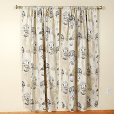 Hot Air Balloon Ironstone Rod Pocket Curtain Single Panel