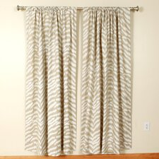 Pearl Rod Pocket Curtain Single Panel