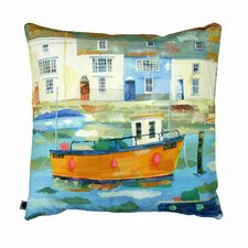 Weymouth Harbour Printed Cushion