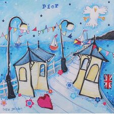 St. Kilda Pier with Bunting by Susie Grindey Wall Art