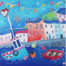Seaside Houses by Susie Grindey Wall Art