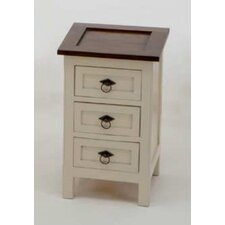 Tripoli 3 Drawer Bedside Table