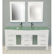 "<strong>Cambridge Plumbing</strong> 62.25"" Double Sink Vanity Set"