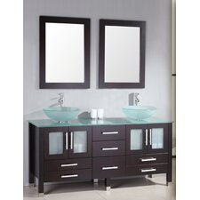 "<strong>Cambridge Plumbing</strong> Emerald 64"" Double Bathroom Vanity Set"