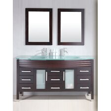 "Modern 62"" Double Bathroom Vanity Set"