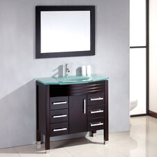 "<strong>Cambridge Plumbing</strong> Sapphire 36"" Single Bathroom Vanity Set"