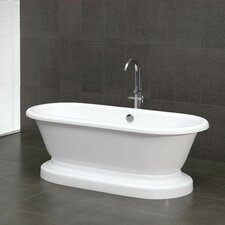 "70"" x 28"" Double Ended Pedestal Bathtub"