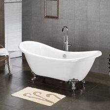 "<strong>Cambridge Plumbing</strong> 68.62"" x 28.5"" Claw Foot Slipper Tub"