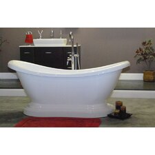 "68.63"" x 29"" Pedestal Slipper Tub"