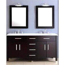 "Plum 72"" Basin Vanity Set with Double Sink"