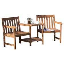 Hampton Wooden 2 Seater Casual Dining Set