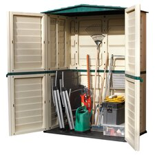 Plastic 5 ft W x 3 ft D Storage Shed