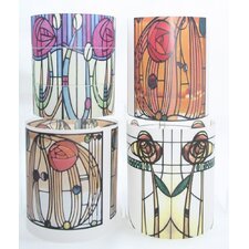 Charles Rennie Mackintosh 1 Tealight Holder 4 Piece Set
