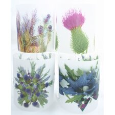 Highland Flowers Tealight Holder 4 Piece Set