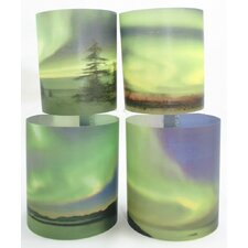 Northern Lights 2 Tealight Holder 4 Piece Set