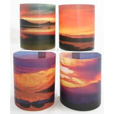 Sunrise 3 Tealight Holder 4 Piece Set