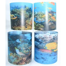 Tropical Fish Tealight Holder 4 Piece Set