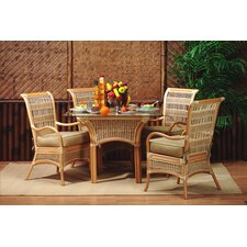 <strong>Spice Islands Wicker</strong> 5 Piece Dining Set
