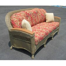 <strong>Spice Islands Wicker</strong> Barbados Sofa with Cushions