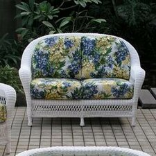 <strong>Spice Islands Wicker</strong> Grand Caymen Loveseat with Cushions