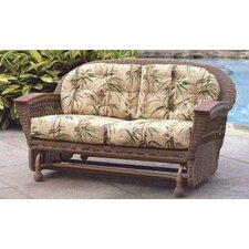 <strong>Spice Islands Wicker</strong> Barbados Double Glider Sofa with Cushions