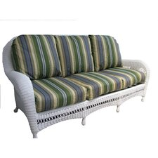 <strong>Spice Islands Wicker</strong> Grand Caymen Sofa with Cushions