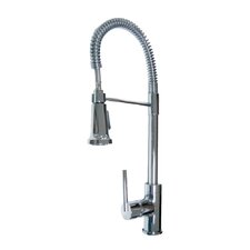 Spartacus One Handle Single Hole Kitchen Faucet with Pull Down Spray