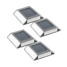 Stainless Steel Solar Pathway Light (Set of 4)