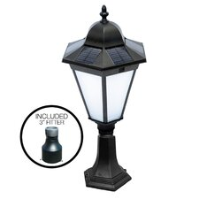 Essex Solar Lamp in Black, 2 Mounting Options