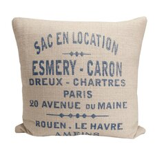 <strong>Provence Home Collection</strong> Hampton Classic French Words Pillow
