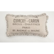 "<strong>Provence Home Collection</strong> ""French Words"" Small Skinny Pillow"
