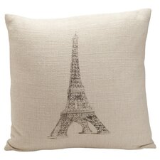 Auron Eiffel Tower Print Pillow
