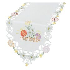 <strong>Xia Home Fashions</strong> Country Egg Embroidered Cutwork Table Runner