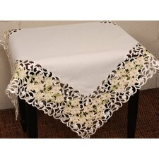 Spring Garden Embroidered Cutwork Table Topper