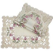 <strong>Xia Home Fashions</strong> Rose Garden Placemat (Set of 4)