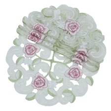 Dainty Rose Round Doily (Set of 4)