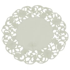 Daisy Lace Embroidered Cutwork Round Doily (Set of 4)