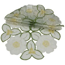 "Dainty Flowers 8"" Round Doily (Set of 4)"