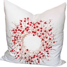 Holiday Berry Wreath Pillow