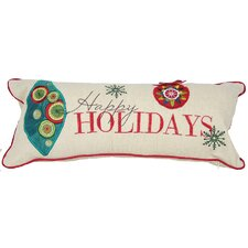 Happy Holidays-8X18 Pillow