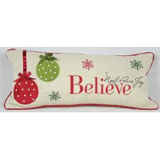 Holiday Believe with Ornaments Pillow