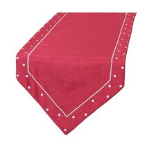 Polka Dot Embroidered Easy Care Table Runner