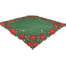 Holly Leaf Poinsettia Table Topper