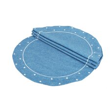 Polka Dot Embroidered Easy Care Placemat (Set of 4)