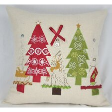 Christmas Ribbon with Tree Pillow